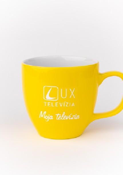 Hrnček TV LUX - žltý