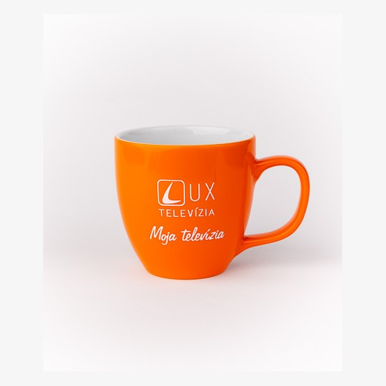 Hrnček TV LUX - oranžový