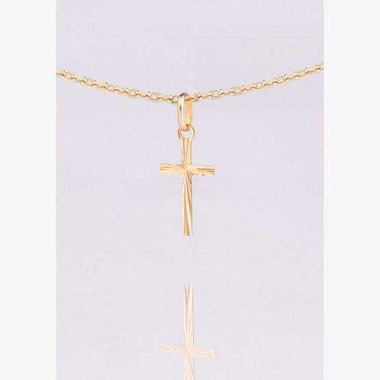 Zlatý prívesok kríž s rovnými ramenami