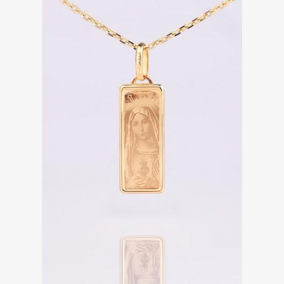Zlatý medailón Panny Márie / obdĺžnik