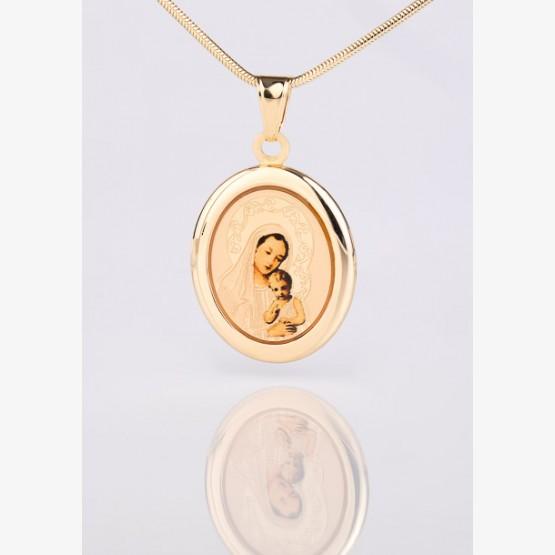 Zlatý medailón Panny Márie s dieťaťom...