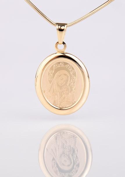 Zlatý medailón Panny Márie s dieťaťom Ježišom