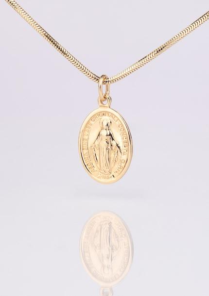Zlatý medailón Nepoškvrnenej Panny Márie